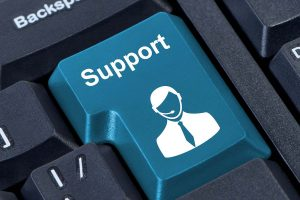 A support button in the keyboard for support