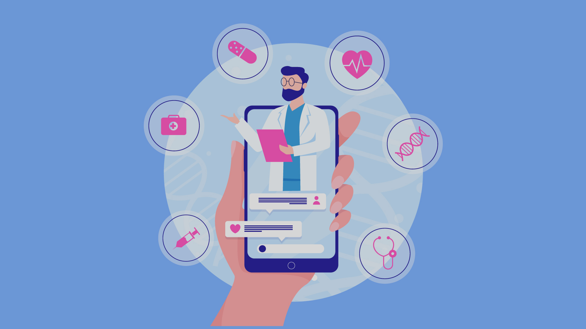 A ghraphical model of doctor's medical operations are connected to online technology to avail for patients