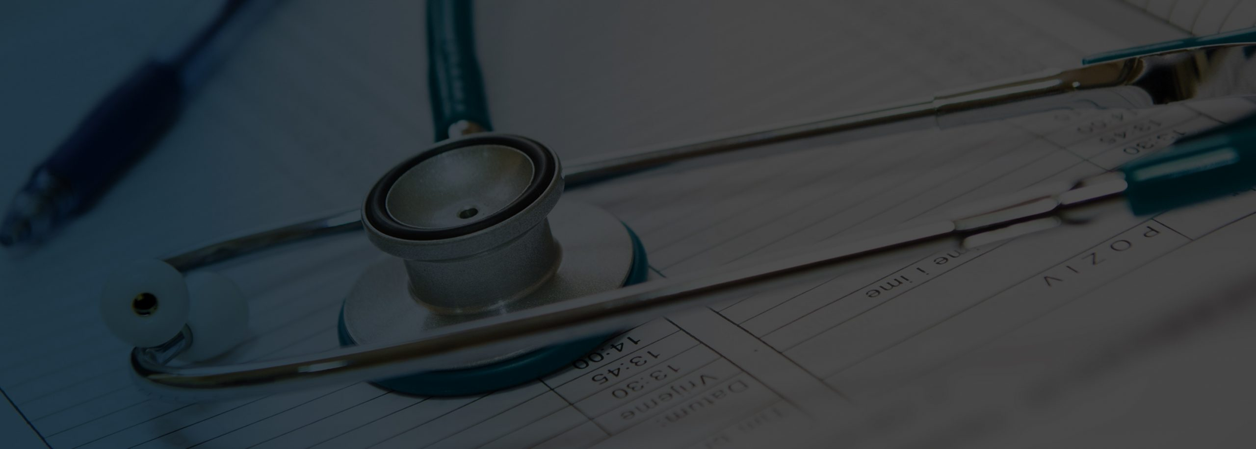 A stethoscope placed on a billing paper in a medical billing company